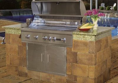 brick paver grill station
