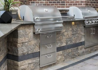 custom brick paver outdoor kitchen