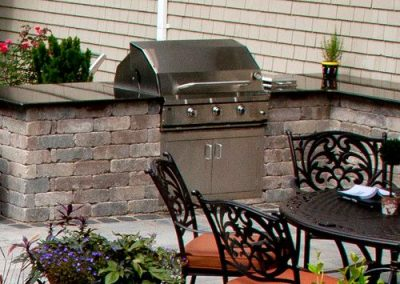 brick paver patio grill