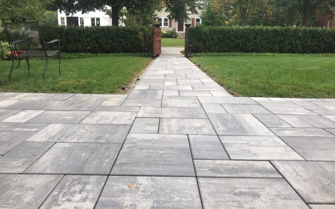 Front Walk Project in Winnetka